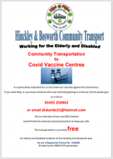 Community Transport to COVID Vaccine Centres